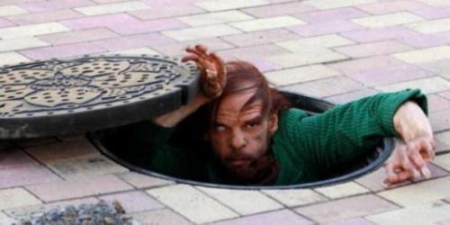 Denis Lavant...as a sewer-dwelling mutant
