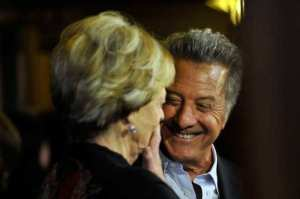 Maggie Smith and director Dustin Hoffman
