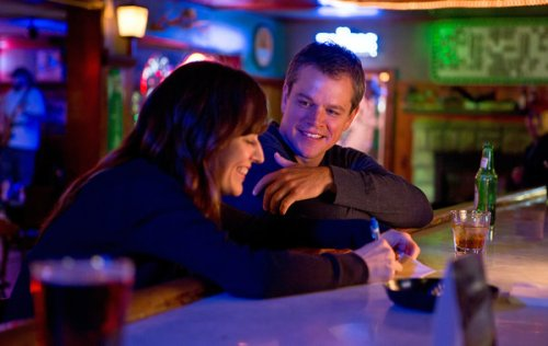 "Rosemary DeWitt and Matt Damon in ""Promised Land"""