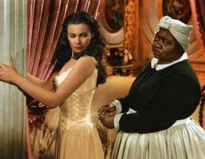 "Vivian Leigh and Hattie  McDaniel in ""Gone With the Wind"""