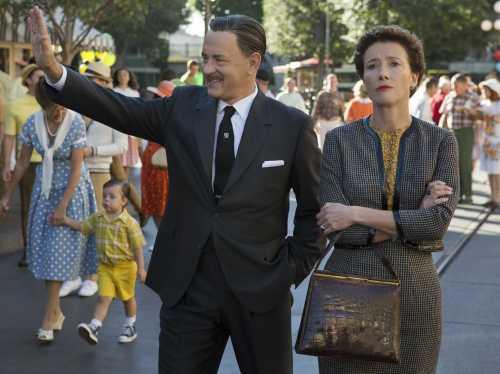 Tom Hanks as Walt Disney, Emma Thompson as P.L. Travers