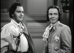 Louis Hayward as both good-guy swashbuckler and evil monarch