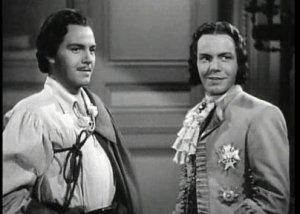 Louis Hayward as both good-guy swashbuckler and evil monarch