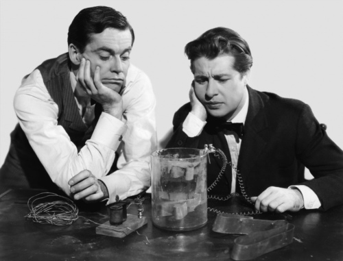 Henry Fonda as Thomas Watson and Don Ameche as Alexander Graham Bell