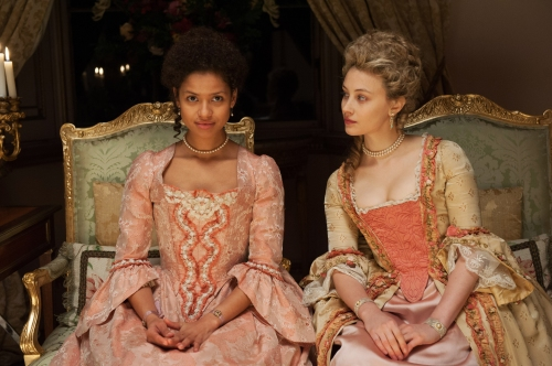 """Gugu Mbatha-Raw and Sarah Gadon in """"Belle"""""""