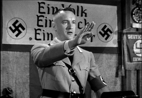 "George Sanders rallies American fascists in ""Confessions of a Nazi Spy"""
