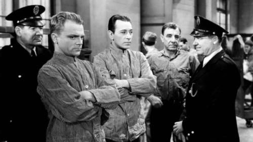 "James Cagney and George Raft in ""Each Dawn I Die"""