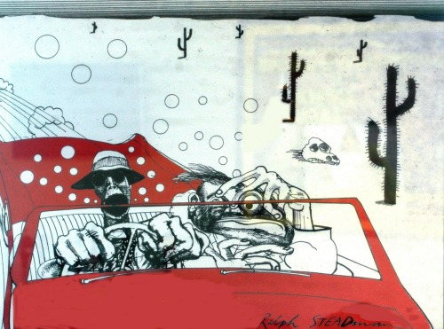 "Ralph Steadman's cover art for ""Fear and Loathing in Las Vegas."""
