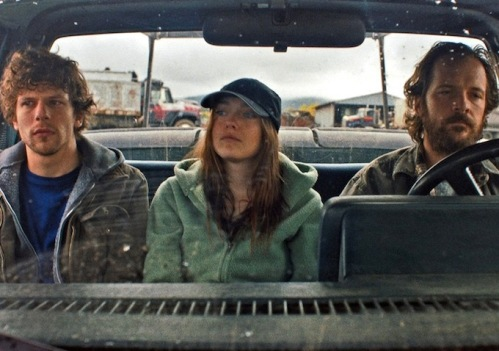 Jesse Eisenberg, Dakota Fanning, and Peter Sarsgard...eco-terrorists