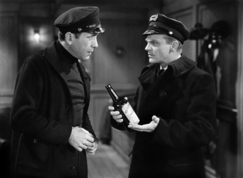 "Humphrey Bogart and James Cagney...bootleggers in ""The Roaring Twenties"""