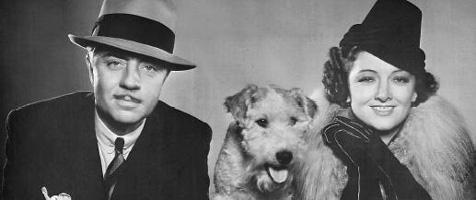 William Powell, Skippy/Asta, and Myrna Loy