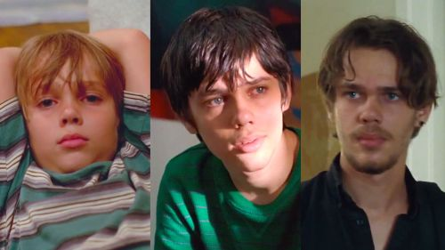 Ellar Coltrane...growing up before our eyes