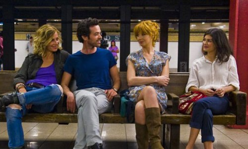 Xavier and his women: (left to right) Cecille De France, Romain Duris, Kelly Reilly, Audrey Tautou