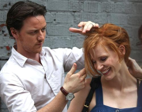 James McAvoy and Jessica Chastain...in happier times.