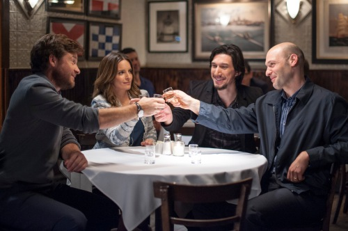 "Justin Bateman, Tina Fey, Adam Driver and Corey Stoll...siblings  in ""This Is Where I Leave You"""