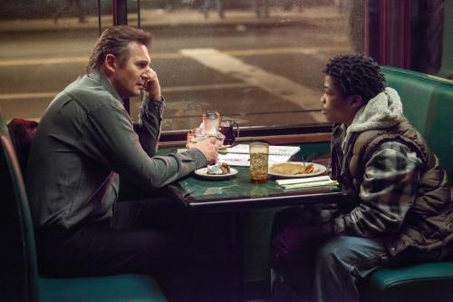 """Liam Neeson, Brian """"Astro"""" Bradley"""