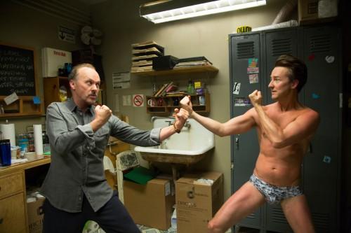Michael Keaton and Edward Norton...exploring artistic differences