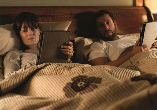 Rosemarie DeWitt, Adam Sandler...always on line