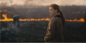 Jessica Chastain...back home on a ravage Earth