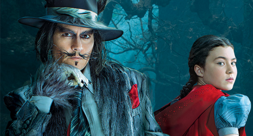 Johnny Depp as the Wolf; ** as Red Riding Hood