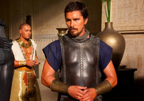 Joel Edgerton and Christian Bale as Rhamses and Moses
