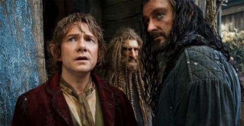 Martin Freeman as Bilbo (left), and Richards Armitage as Thorin (right)