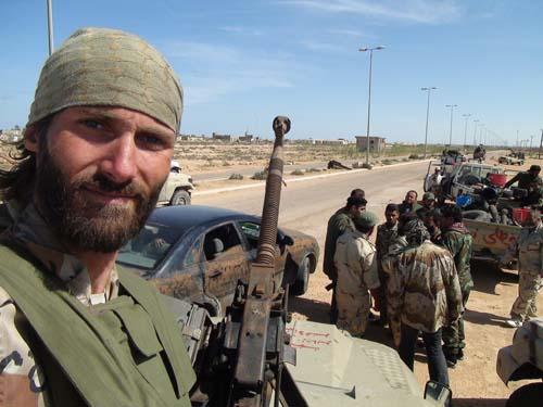 Matthew Vandyke and freedom fighting colleagues
