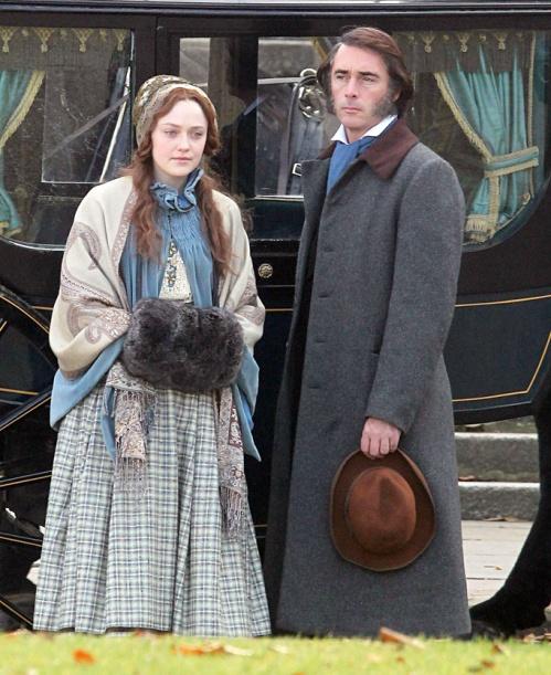 Dakota Fanning and Greg Wise as Effie and John Ruskin