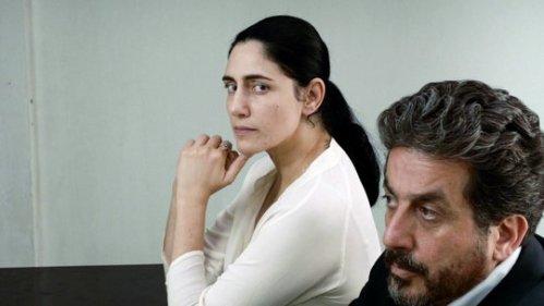Ronit Elkabetz and Menashe Noy