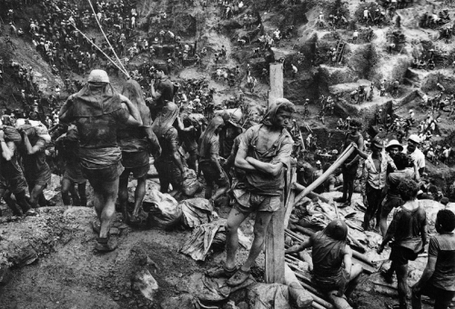 "Photo from Salgado's series ""The Miners of Serra Pelada"""