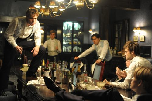 "Rich twits party hearty in ""The Riot Club"""