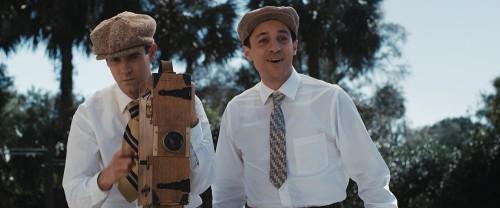 Thomas Ian Nichols (right) as young Walt Disney