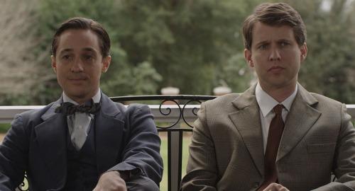 Thomas Ian Nichols (left) as Walt Disney, Jon Heder as Roy Disney