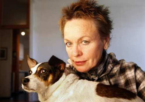 Laurie Anderson and friend