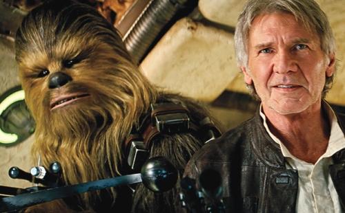 Chewbacca and Han...together again