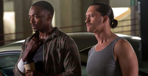 Bad cops: Anthony Mackie, Clifton Collins Jr.