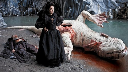 Salma Hayek and sea serpent