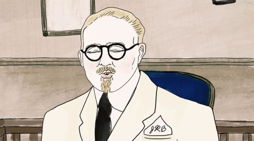 Dr. John R. Brinkley...cartoon version