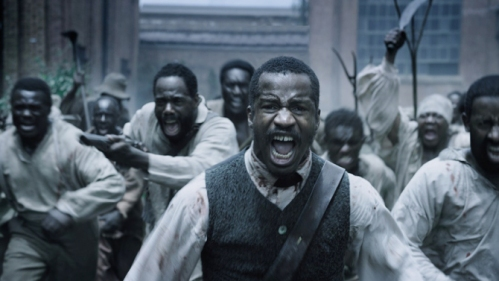 Nate Parker (center) as Nat Turner